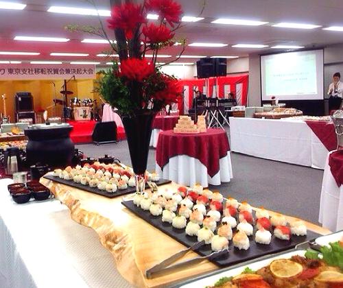 手鞠寿司 祝賀移転パーティーケータリング